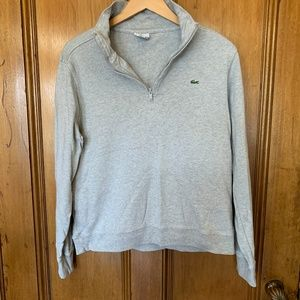Lacoste Grey Jersey Pullover Size 5 M/L
